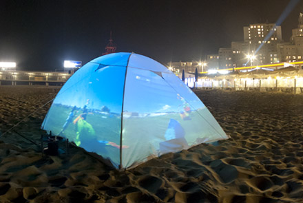 Tent at Scheveningen beach